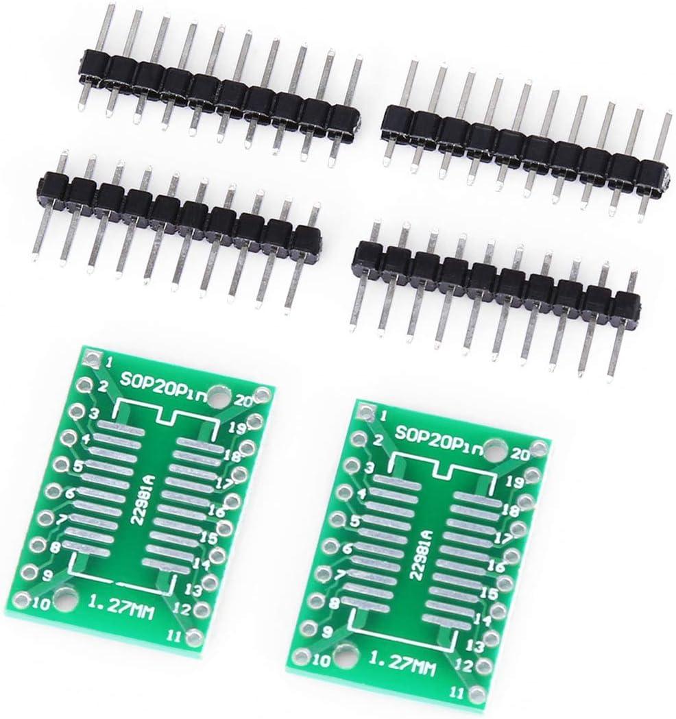 開発ボード ArduinoのためDIP20アダプタボードにYJ032 / Dデュアル側SOP20 / SSOP20 / TSSOP20 SMD - 開発ボード 2 PCSランダTianrui LDTR