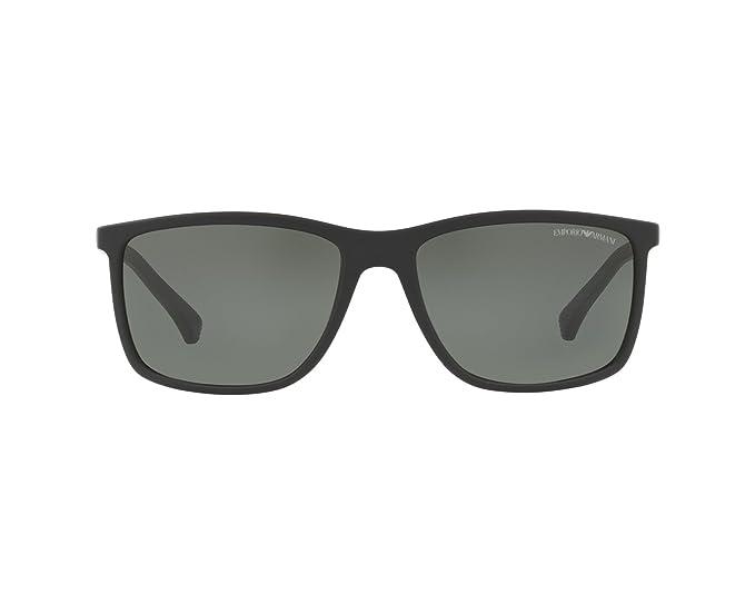 ddd8c95e7538 Image Unavailable. Image not available for. Colour  EMPORIO ARMANI Men s  0EA4058 56539A 58 Sunglasses ...