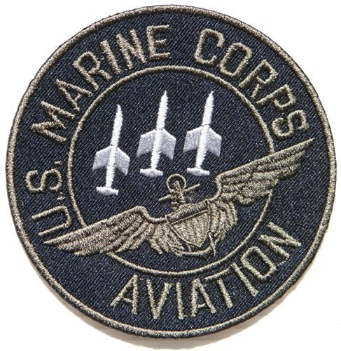 [US MARINE CORPS AVIATION TOP GUN UNITED STATES NAVY FIGHTER US USAF Pilot Tab army navy academy military us air force academy cavalry marine corps national guard logo Jacket Patch Sew Iron on Embroidered Sign Badge] (Top Gun Costume Patches)