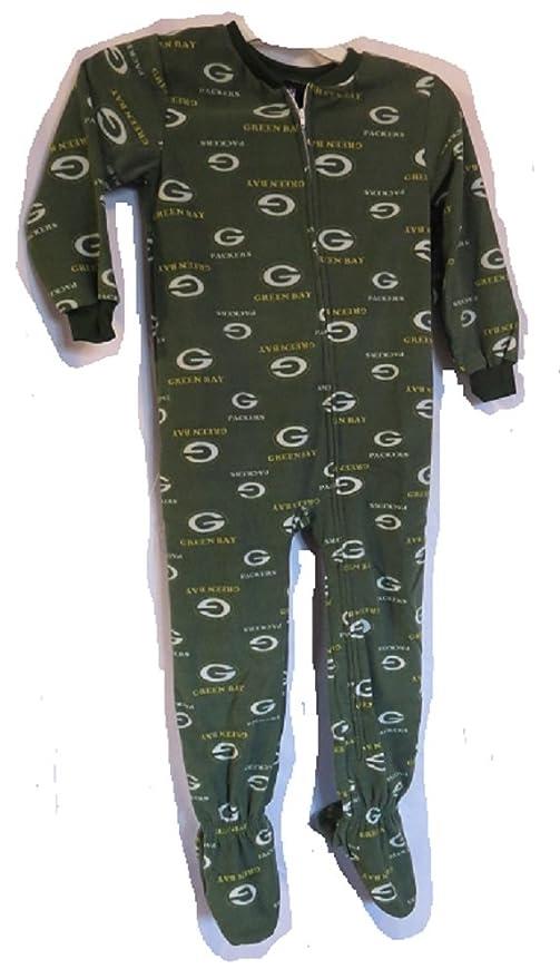 9892d642dba8 Amazon.com   Greenbay Packers football One Piece Fleece footed ...