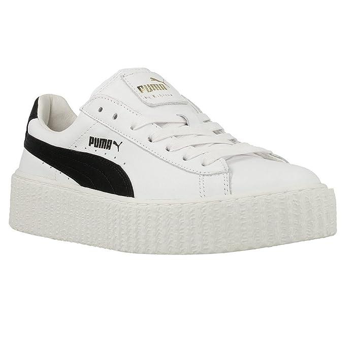 PUMA CREEPER FENTY BY RIHANNA WHITE & BLACK: Amazon.es: Zapatos y complementos