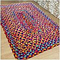 Hand Woven Multi Chindi Rug for Kitchen-Livingroom-Bedroom - 2 X 3 feet