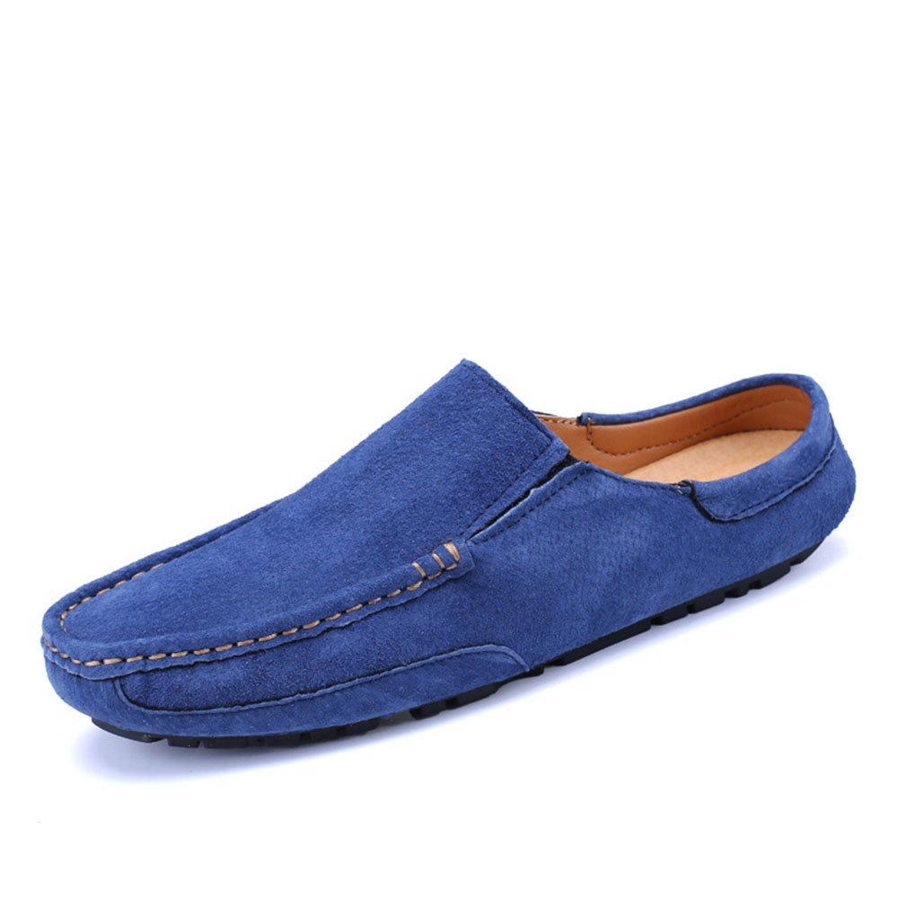 Zapatillas Casual Slip On Driving Mocasines Zapatos Soft Suede Moccasin Zapatillas 41 1/3 EU|Azul