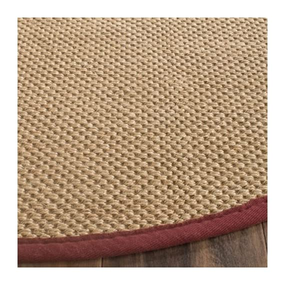 Safavieh NF141C-10 Area Rugs - Construction Power Loomed Fiber/Finish 100% Sisal Pile Backing Power Loomed Rugs Do Not Use Backing Material On The Underside Of The Rug. A Thin Coat Of Latex Is Applied To The Underside Of The Rug To Secure The Yarns Firmly In Place. This Latex Coat Is Virtually Invisible And Is Not Considered Backing Material. - living-room-soft-furnishings, living-room, area-rugs - 612VVHvHPtL. SS570  -