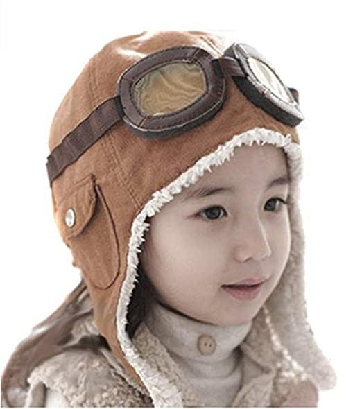Steampunk Kids Costumes | Girl, Boy, Baby, Toddler LIWEIKE Children Pilot Aviator Hat Warm Baby Kid Winter Earflap Pilot Cap Aviator Hat Beanie Flight Helmet $10.89 AT vintagedancer.com