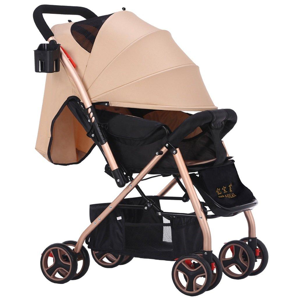 赤ちゃんのベビーカーは、座って軽い折りたたみポータブルベビーベビーカー(赤)(カーキ)70 * 51 * 101センチメートル ( Color : Khaki ) B07BSQMQ7G