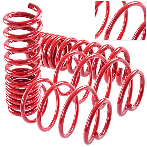 For Chevy Chevrolet Camaro V8 2016 2017 16 17 Handling Control High Performance Suspension Racing Track Drift Drag Coil Lowering Spring Springs Red ()