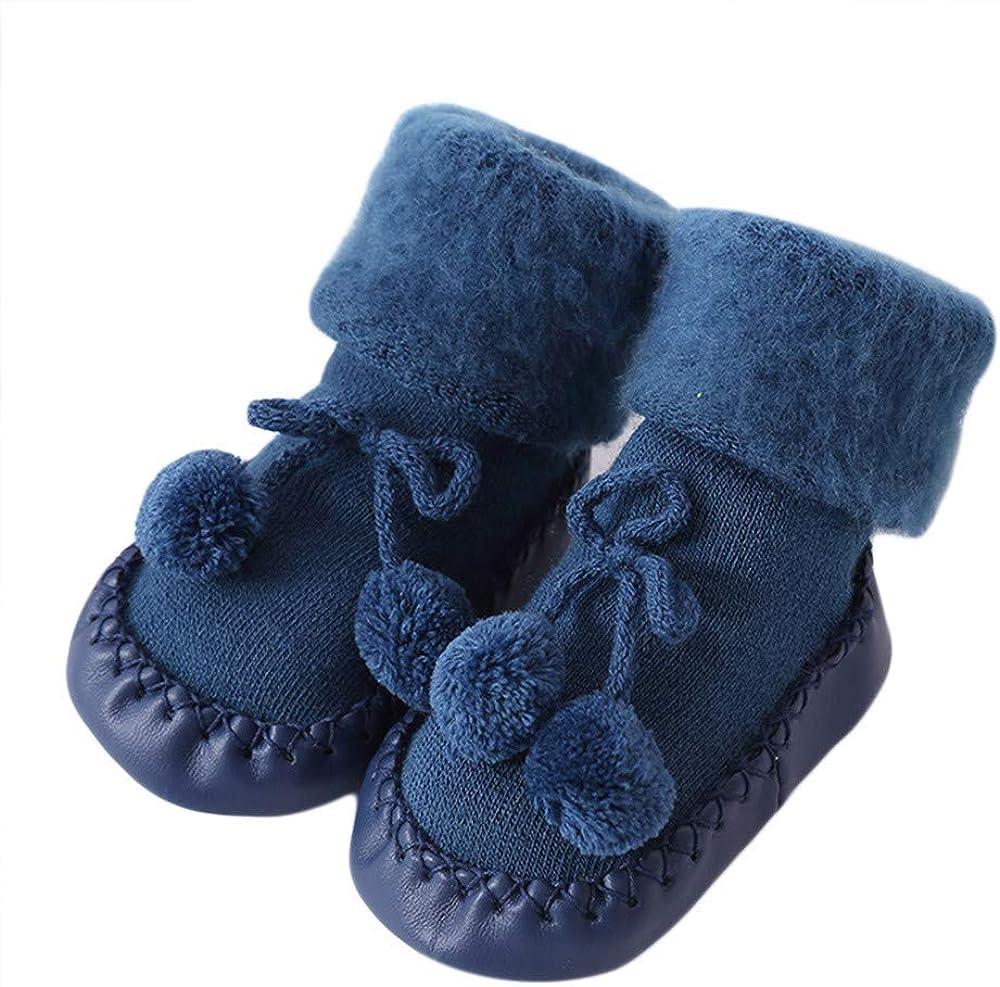 Toddler Infant Baby Non-Skid Rattle Socks Set 3 Pack Foot Rattles Boots Socks Soft Floor Socks for Kids