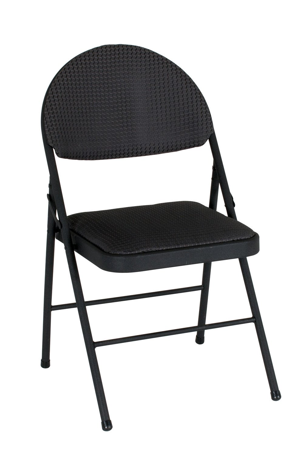 COSCO  XL Comfort Folding Chair Black Fabric (4-pack) by Cosco