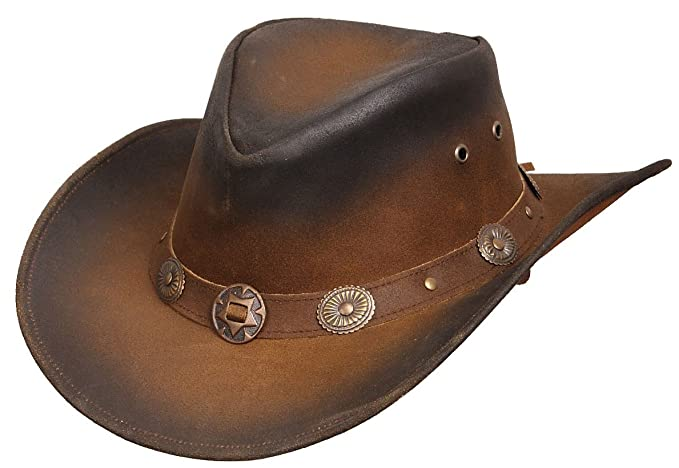 Tombstone Cappello in Pelle cappello da uomo cappello da cowboy cappello  australiano  Amazon.it  Sport e tempo libero 85376265bf90