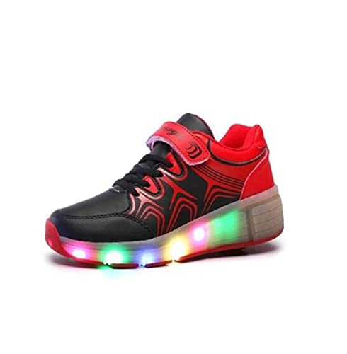 Rotelle Up Sneakers 7 Luminous Uomo Per Bambini Light Leather Donna Pamray Led Scarpe Colore Shoes Ragazzo Con Ragazza Cuir Yb7f6yvg