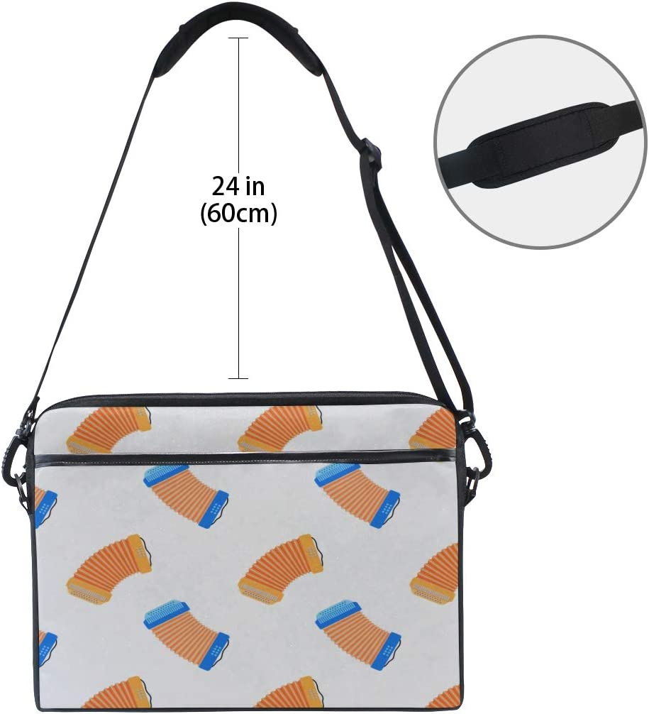 Laptop Bag Accordion Pattern 15-15.4 Inch Laptop Case Briefcase Messenger Shoulder Bag for Men Women College Students Business People Office Workers