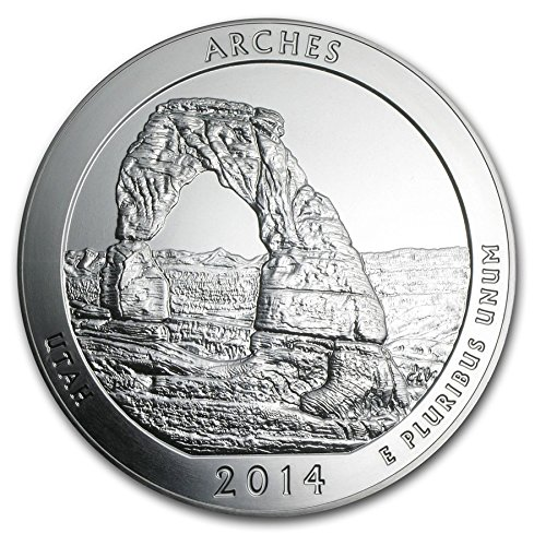 2014 S America the Beautiful Utah Arches Proof Quarter PF1