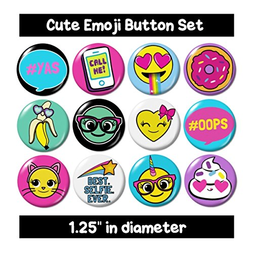 Cute Emoji Buttons Pins -