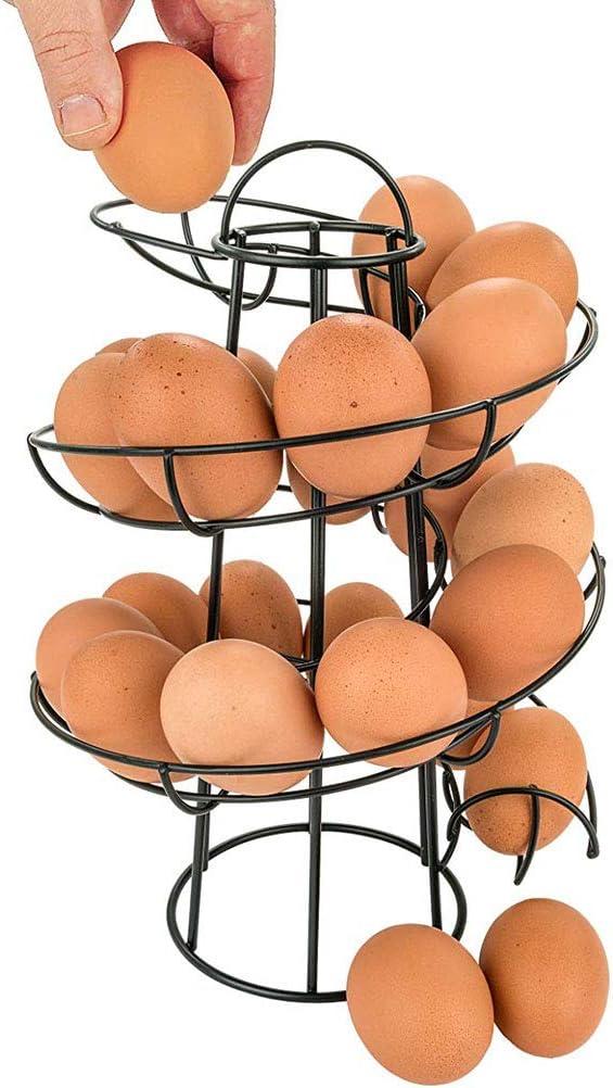 Sarplle Eierspender spiralf/örmiges Eier-St/änder f/ür bis zu 24Eier