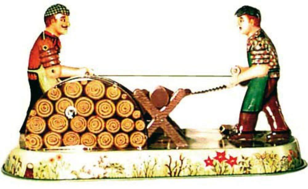 CAPRILO Juguete Decorativo de Hojalata LEÑADORES(Alemania) Personajes de Cuerda. Juguetes y Juegos de Colección. Regalos Originales. Decoración Clásica.