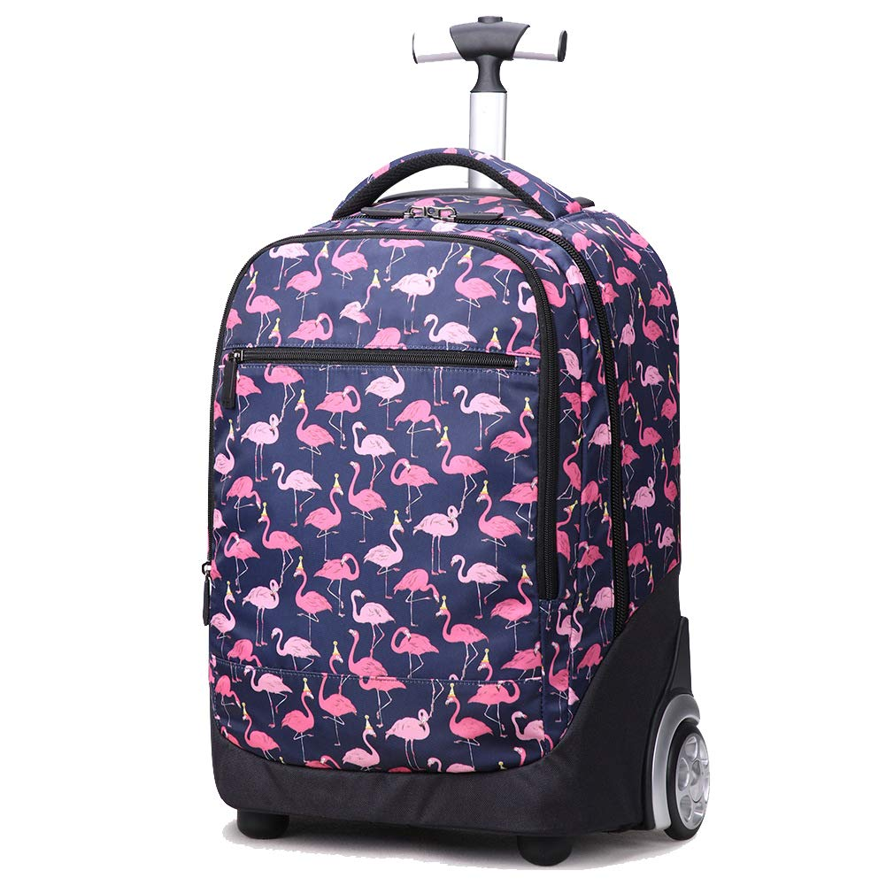 MARTER ZLX Trolley Bag for Children, Male and Female Students with Wheel Print Bag Dual-use Travel Bag, Lightweight and Waterproof-3 by MARTER
