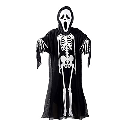 Ghost Costume Kids Skeleton Halloween Fancy Dress