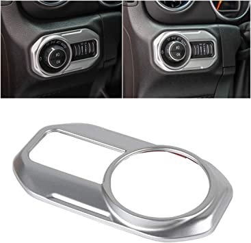 Car Door Lock Switch Lid Button Decoration Stickers Cover for Jeep 2018 JL Silver