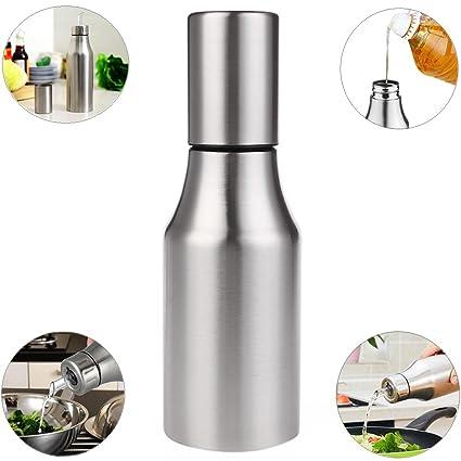 Xuanlan Dispensador de aceite y vinagre Aceite de acero inoxidable Aceite/vinagre/salsa Cruet