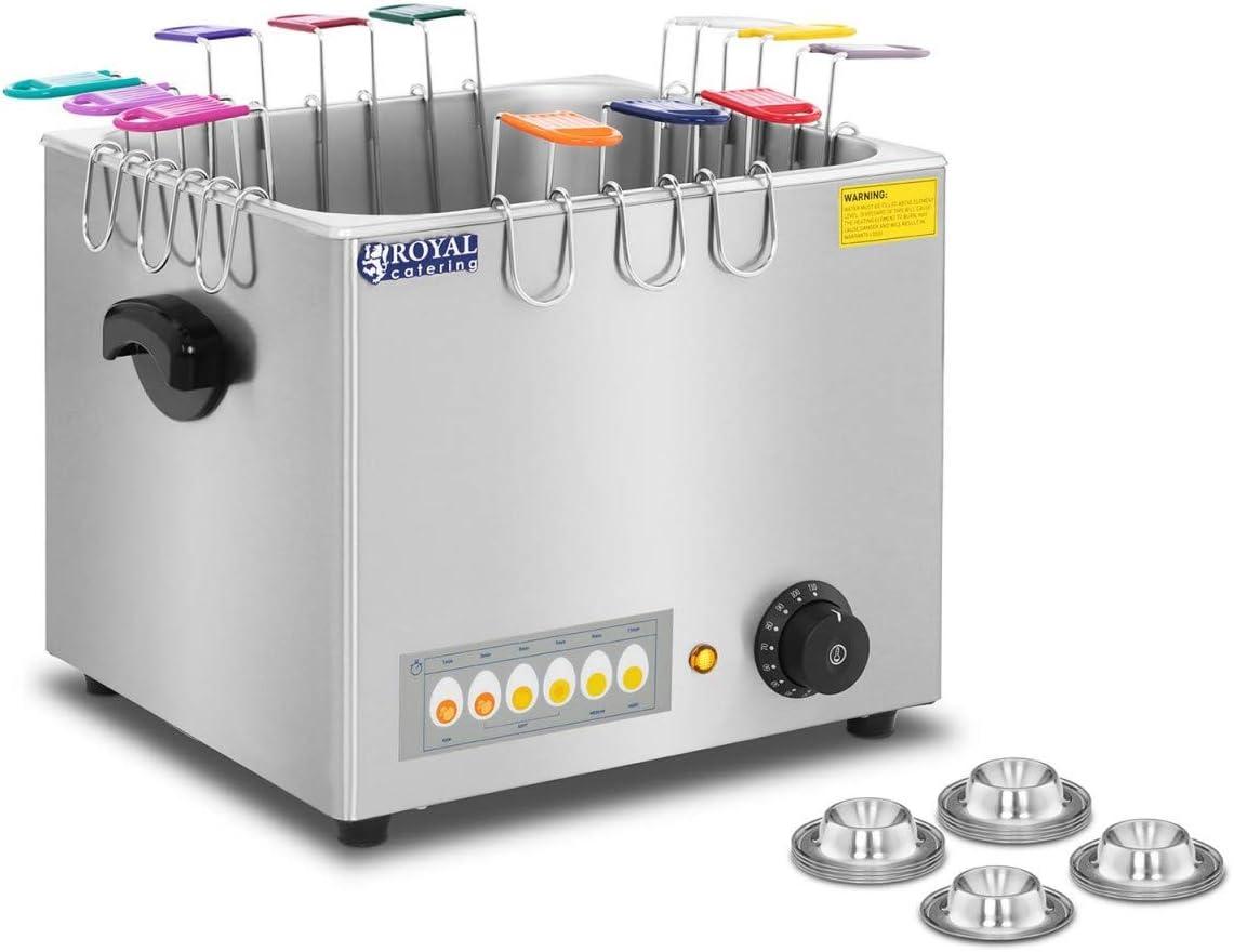 Eierkocher Gastro Elektrisch 6 Eier 2600 W 230 V 30 110 °C Edelstahl Profi