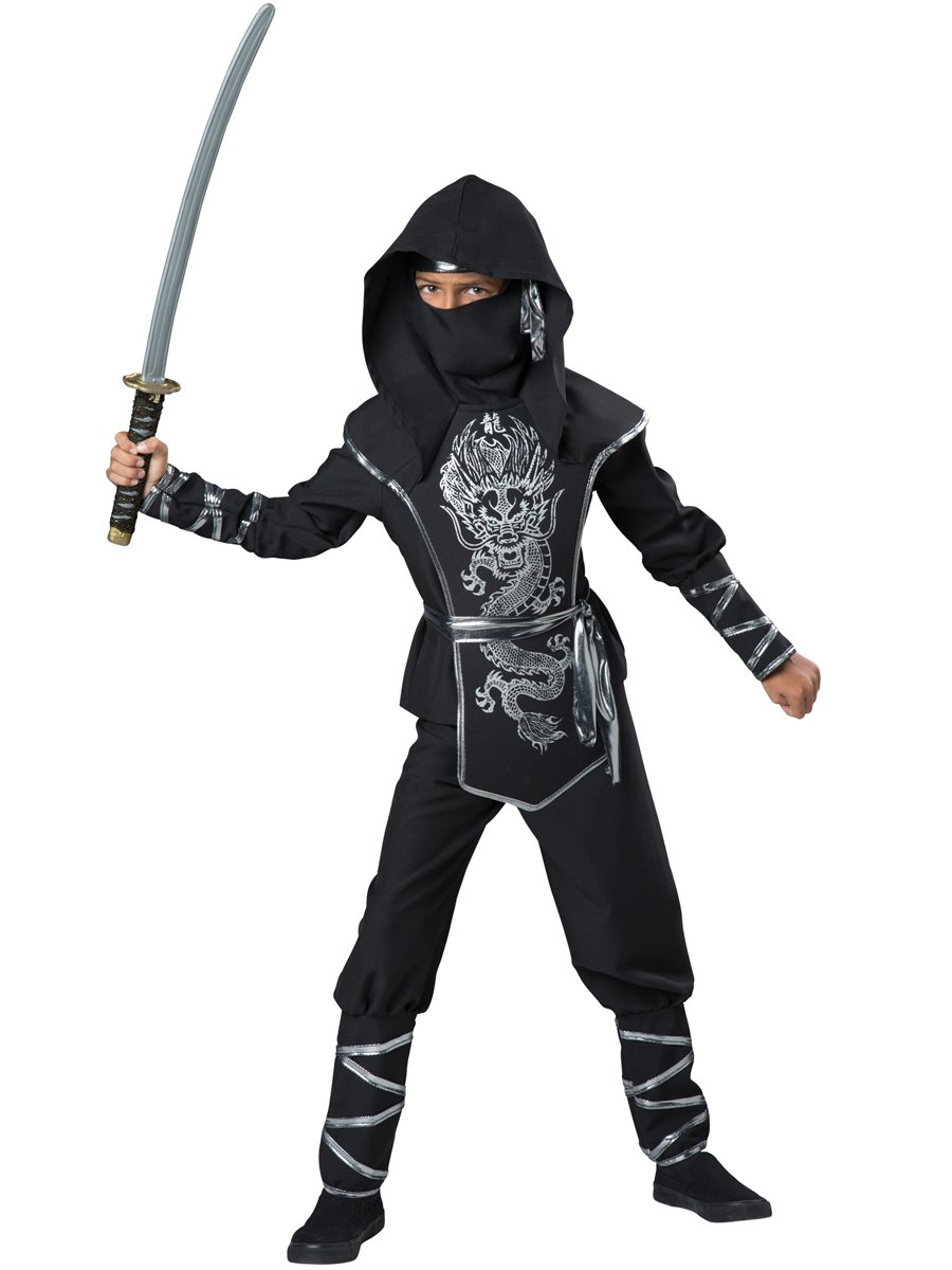 InCharacter Costumes Dragon Ninja Costume, One Color, Size 6