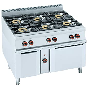 macfrin 3402em08 Gas y eléctrica cocina con horno, serie 8, 1 ...