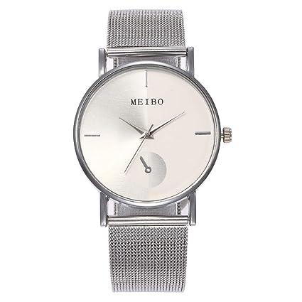 Amazon.com: Reloj de pulsera para mujer, correa de malla de ...