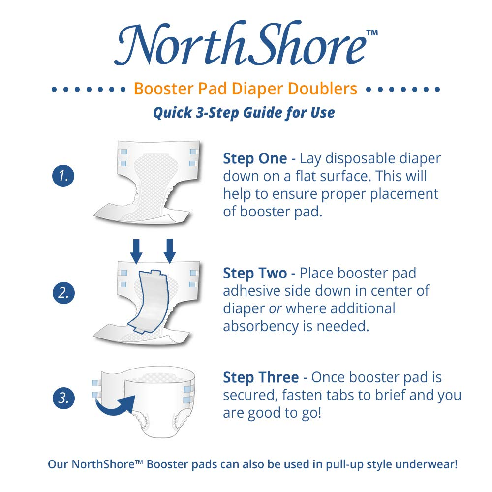 NorthShore Booster Pads with Adhesive, Medium, Case/120 (4/30s) by NorthShore (Image #4)