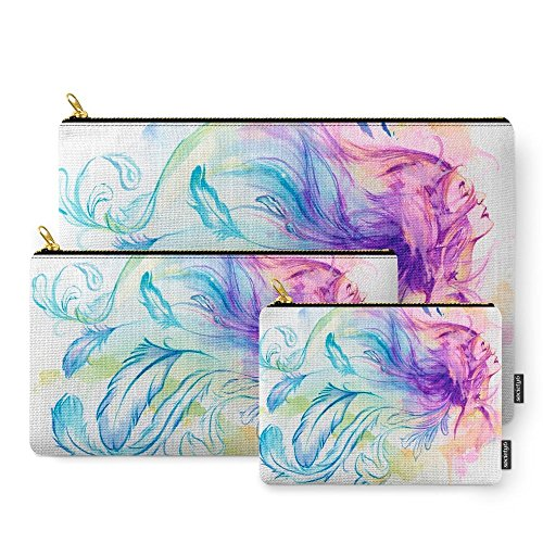Society6 Fly Away Carry-All Pouch Set of 3