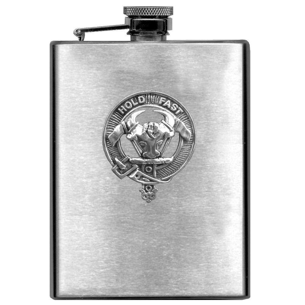 MacLeod Scottish Clan Stainless Steel 8oz Flask