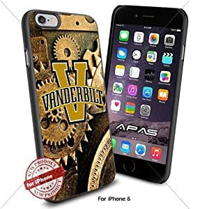 Vanderbilt Commodores NCAA ,Cool Iphone 6 Smartphone Case Cover Collector iphone TPU Rubber Case Black color [ Original by WorldPhoneCase Oly ]