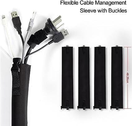Cable de gestión Sleeves, BEST Cords Organizador para TV ...