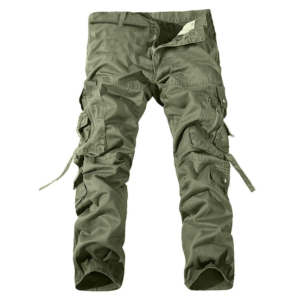 Allywit Men's Cotton Casual Military Army Cargo Camo Combat Work Pants Big and Tall