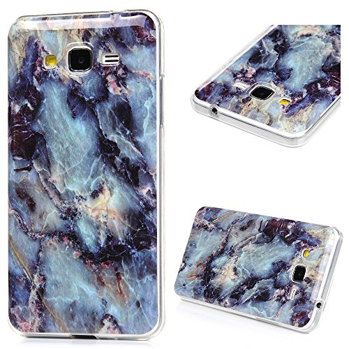 Galaxy Grand Prime Marble Case, YOKIRIN Shock-Absorbing Stone Texture Super Slim Case Translucent Flexible Soft TPU Defensive Protective Cover Skin Sh…