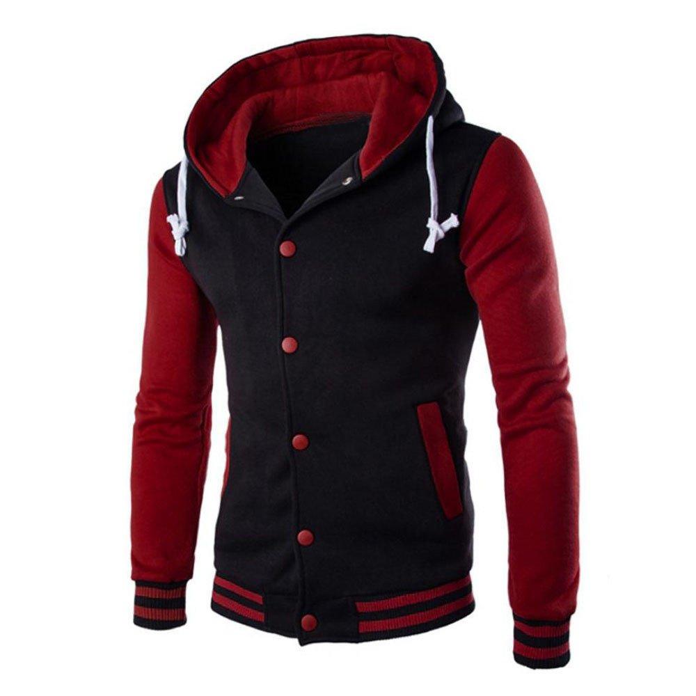 Rambling New Mens Jacket Winter Warm Sweater Slim Hoodie Hooded Sweatshirt Outwear Coat