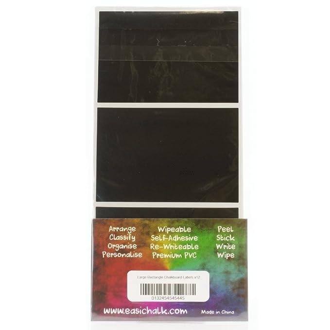 Etiquetas adhesivas rectangulares grandes de pizarra, 12 unidades ...