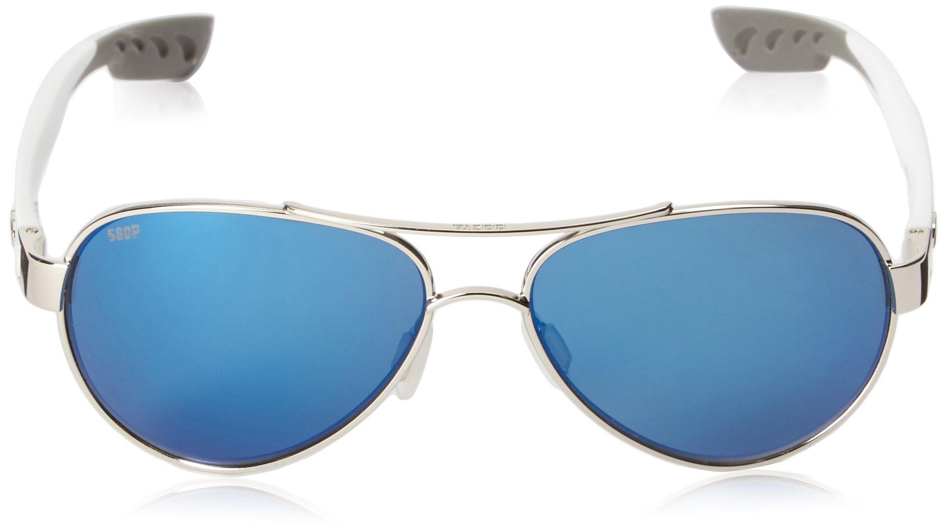 Costa del Mar Loreto Sunglasses Palladium w/White/Blue Mirror 580Plastic by Costa Del Mar (Image #2)