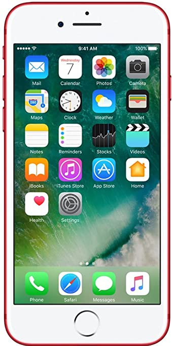 Apple iPhone 7 (Red, 128GB) Smartphones at amazon