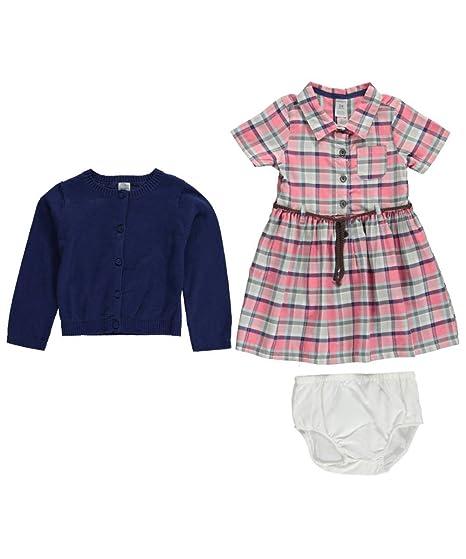 2c74bfa97eb5 Amazon.com  Carters Baby Girls  Plaid Cardigan Dress Set  Clothing