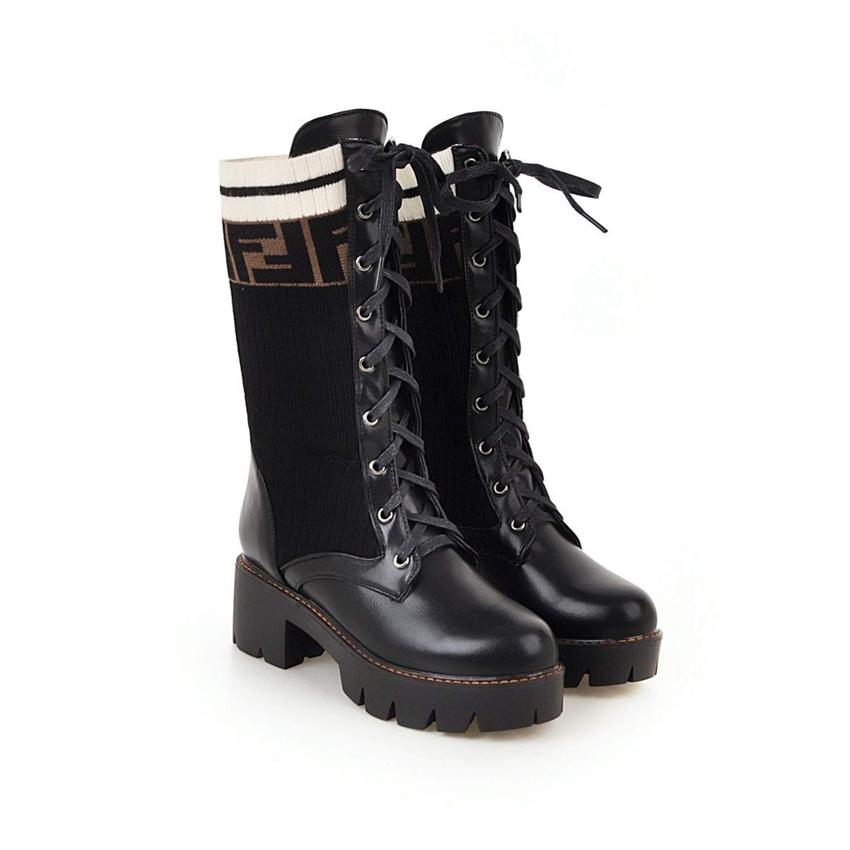 Joe B07GWSRHDQ Bottes Femme Black La Nouvelle Locomotive Martin Boots Short Boots Tube Chaussettes Bottes à Fond Plat Black 1ee1539 - shopssong.space