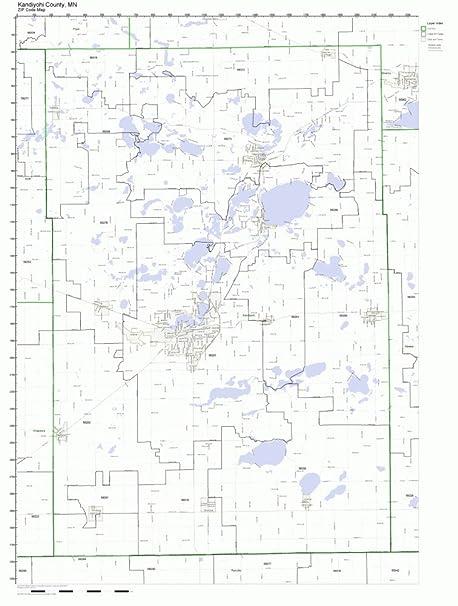 Amazon Com Kandiyohi County Minnesota Mn Zip Code Map Not