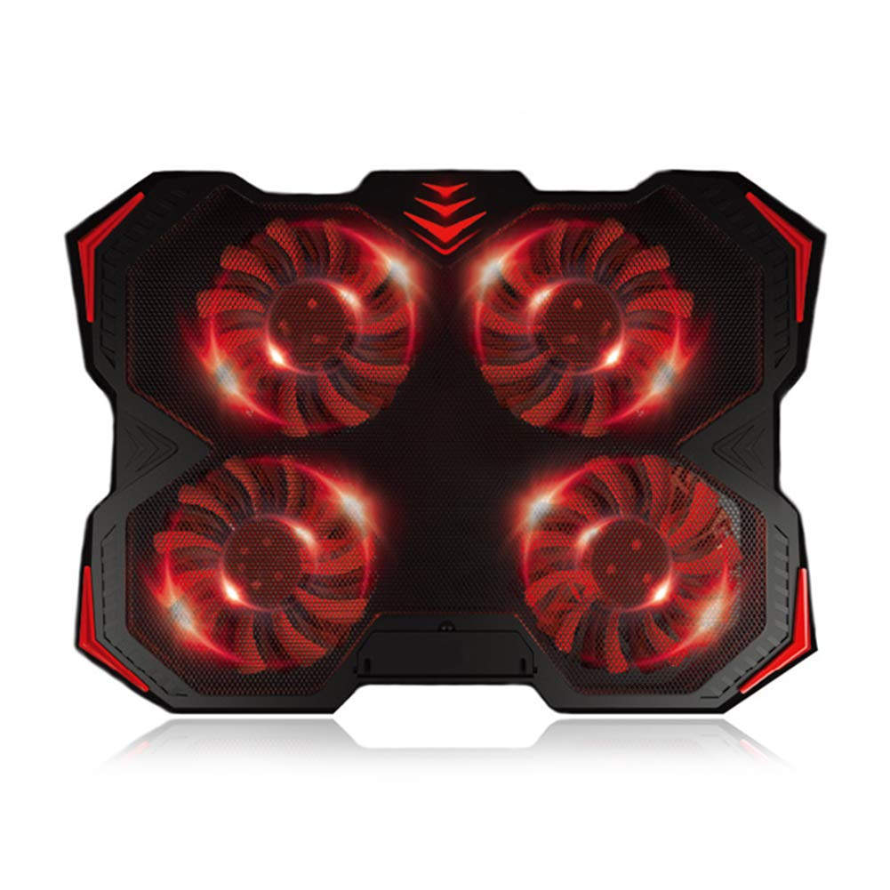 DJG Portable Cooling Pad, Cooling Fan Adjustable 2 USB Ports Laptop Cooler with Four Fans for 12-17 Inch Laptop Stand