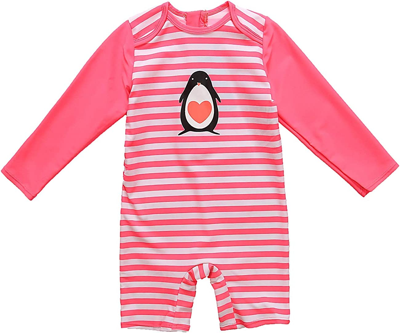 CharmLeaks Baby Boys Girls Zipper UV One Piece Rash Guard
