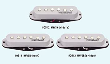 Wilkinson mwvs Single-coil Strat Set Classic De Forma escalonada polepiece color blanco, negro o marfil color, cerámica: Amazon.es: Instrumentos musicales
