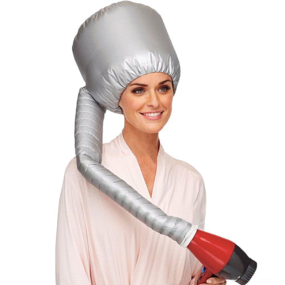 Tragbare weiche Frisur Bonnet Hood Hut, MINPE Weiche Föhn Cap Mütze Attachment Weiche Kapuze Haube Portable Hair Styling Haircare Salon Frisur Behandlungen Hut Cap Curlformers