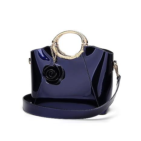 Tisdaini Mujer Bolso Mano Moda Bolsos Charol Hombro Bolsa Messenger Bag  Bolso Grande 2d58d0884a89