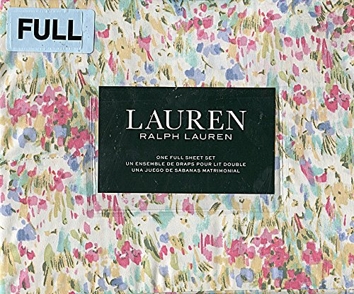 Ralph Lauren Watercolor Floral Sheet Set, Full Size