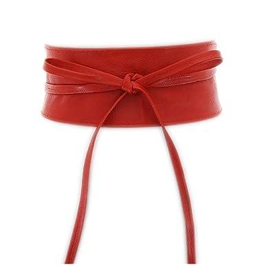 grande qualité luxuriant dans la conception sur les images de pieds de FASHIONGEN Ceinture large à nouer, 7056 - Couleur - Rouge ...