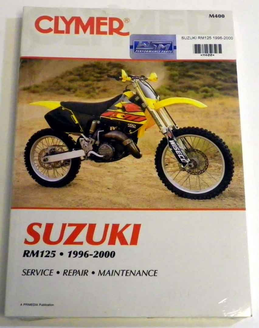Amazon.com: ATV/Moto-X Suzuki Clymer Manual Models RM 125 Hp 1996-2000 WSM  M400: Automotive